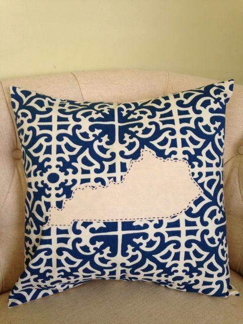 Kentucky Throw Pillow Throw Pillows Blue Throw Pillows Pillows