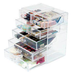 Cosmetic Storage Organizer EZOWare Acrylic Makeup Cosmetic 7 Drawer