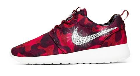 best loved 9190f 7390e Nike Roshe One Customized by Glitter Kicks - RedBlack Camo - Glitter Kicks