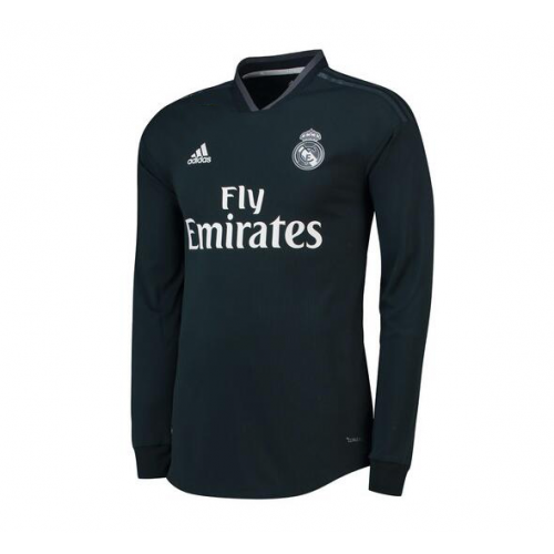 faec58d9489 18 19 Real Madrid Away Dark Green Long Sleeve Jersey Shirt jqkjerseys.vip