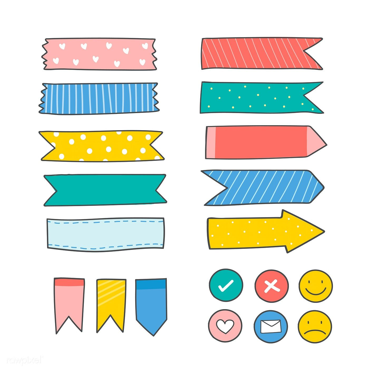Download premium vector of Cute colorful sticky reminder