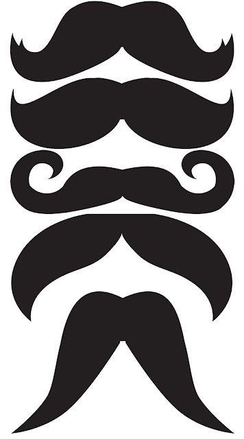 Schnurrbart Moustache Vorlage Schablone Strohhalm Strohhalme basteln ...