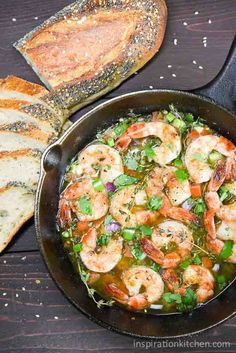 Bahama Breeze Skillet Simmered Jerk Shrimp - Inspiration Kitchen