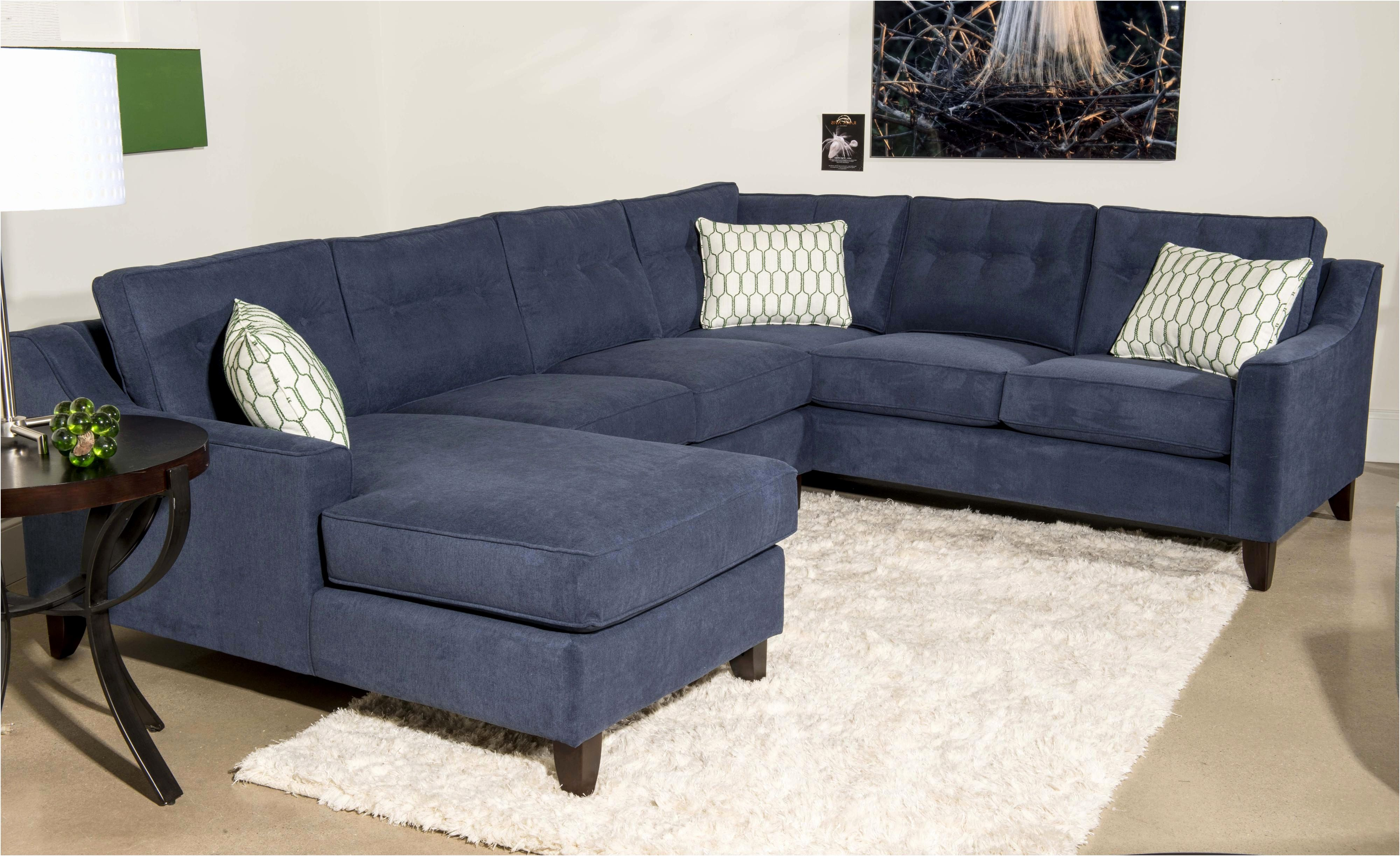 Best Of Elliot Fabric Microfiber Sectional Sofa Blue