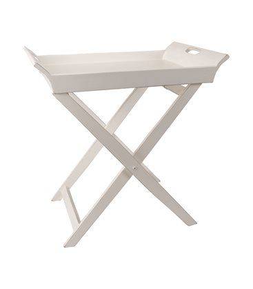 Mesa auxiliar plegable con bandeja blanca | New air at home | Pinterest