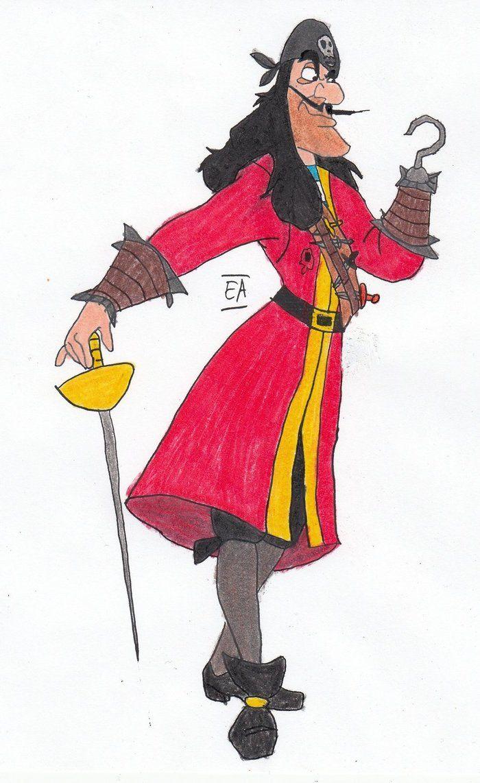"""captain hook """"world's most famous crook""""  disney villians"""