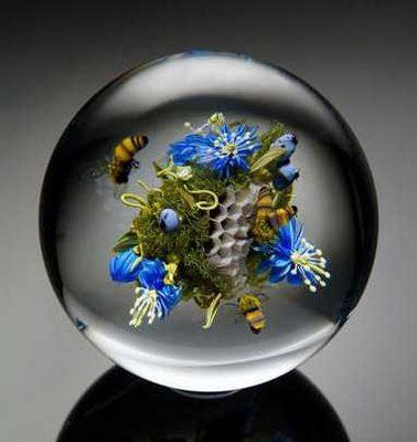 Honeycomb and Honeybees Paperweight