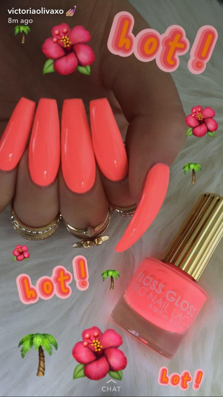 Neon For The Summer Time Pink Nails Neon Acrylic Nails Acrylic Nails