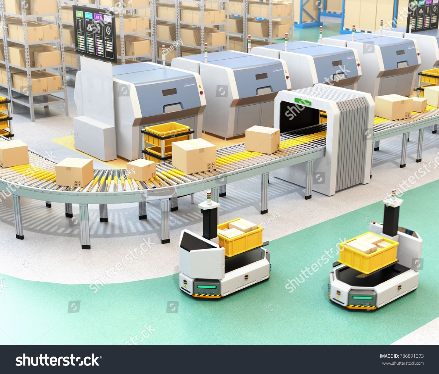 Self driving AGV (Automatic guided vehicle) with forklift