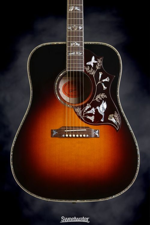 Gibson Acoustic 1960 Hummingbird Heritage Cherry Sunburst With Adjustable Saddle Gibson Acoustic Acoustic Acoustic Guitar