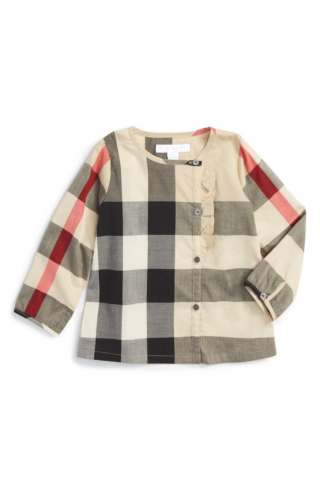f150ae1e Burberry 'Mini Alaya' Classic Check Cotton Top (Baby Girls)   Kids ...