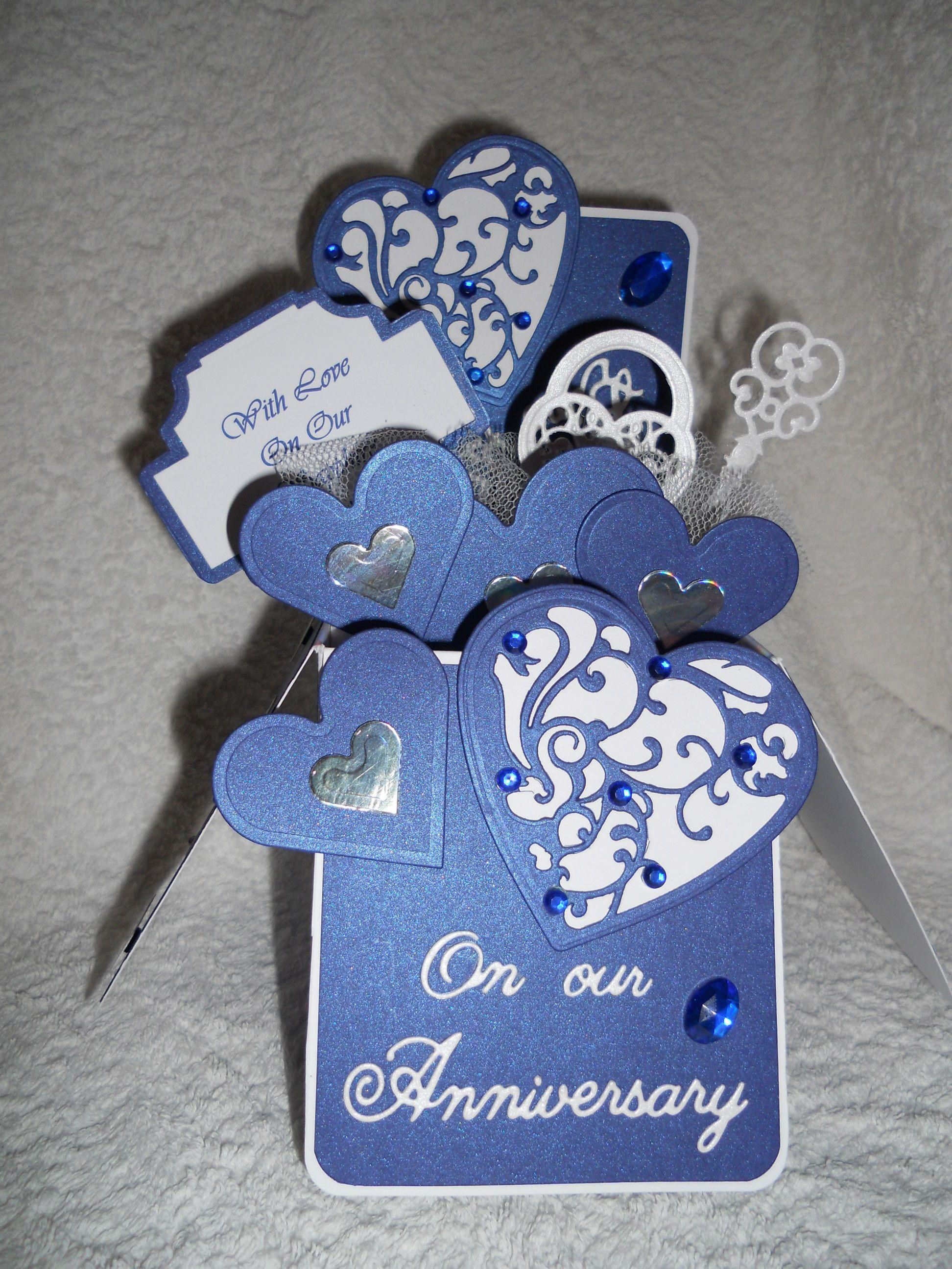 45th Sapphire Wedding Anniversary card. Wedding