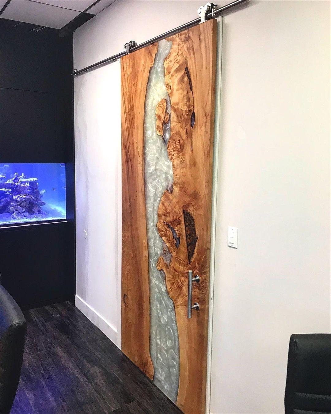 Follow Woodworkingsocial For More Wonderful Wood Working Yes It S A River Door Credit Rustic Desig Barn Door Designs Wood Wall Design Wood Doors Interior