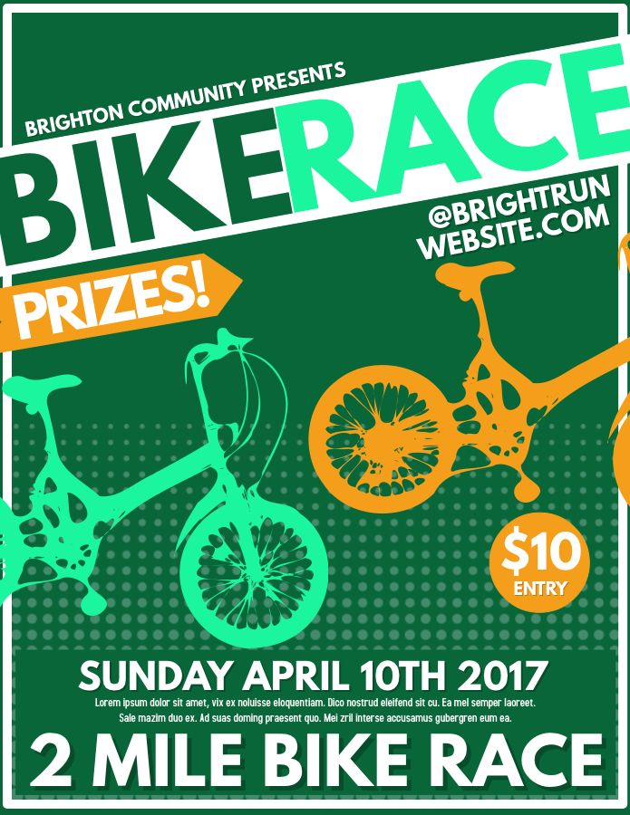 Bike Race Competition poster flyer social media graphic design