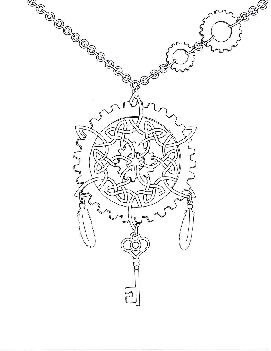 Free coloring page key - Steampunk Coloring Pages For Adults Steampunk Celtic Knot By Mynameis Jinx On Deviantart