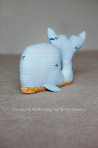 birchfabrics: Free Pattern | Whale Of A Time Plushie | by Christina ...