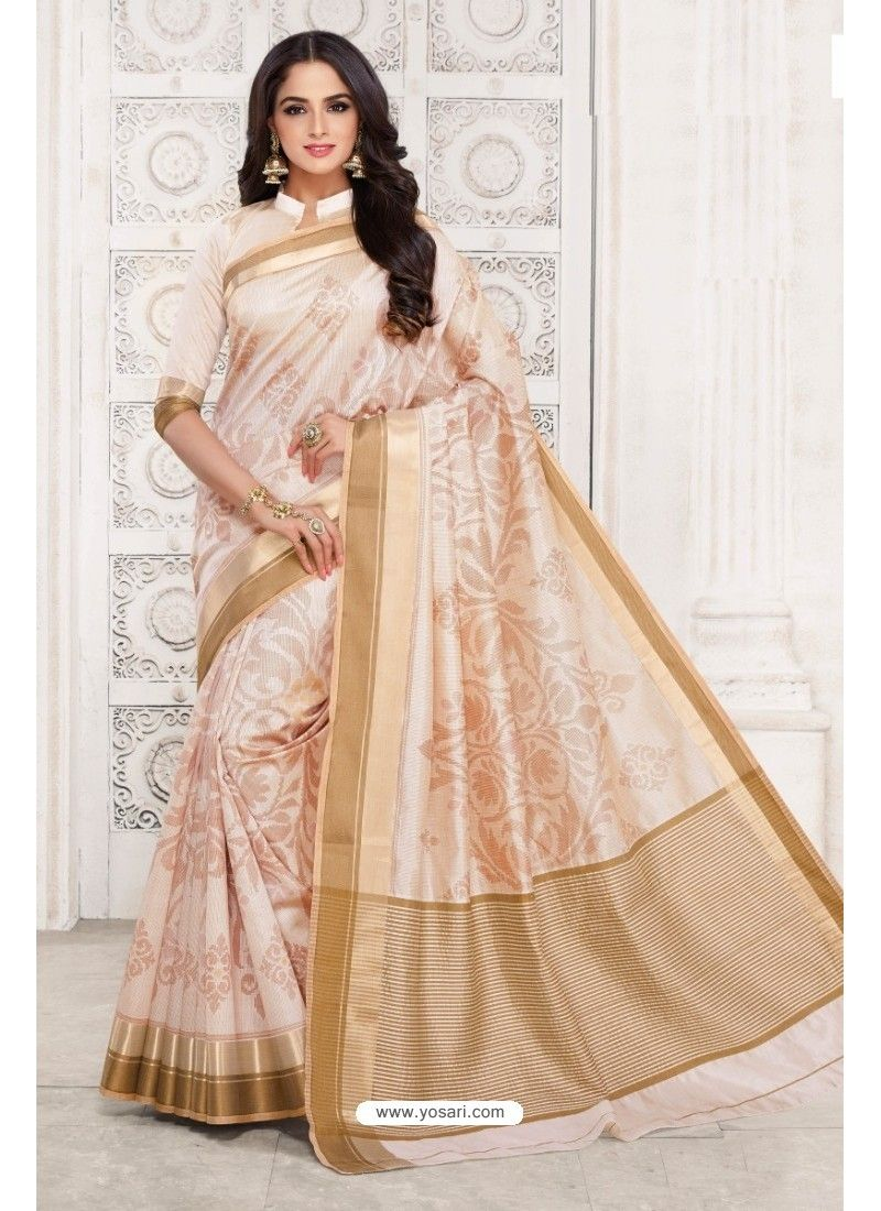 Off saree model images feminine off white tussar silk saree  silk sarees saree and feminine