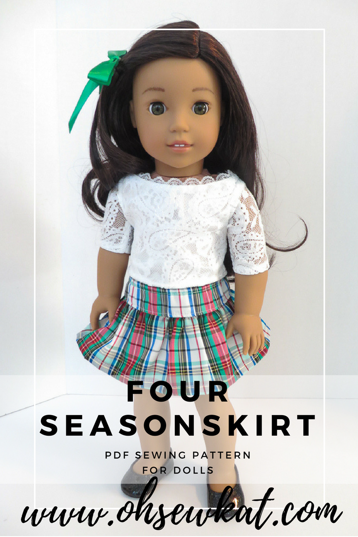 Free skirt sewing pattern for 18 inch dolls by oh sew kat easy free skirt sewing pattern for 18 inch dolls by oh sew kat easy sewing patterns jeuxipadfo Images