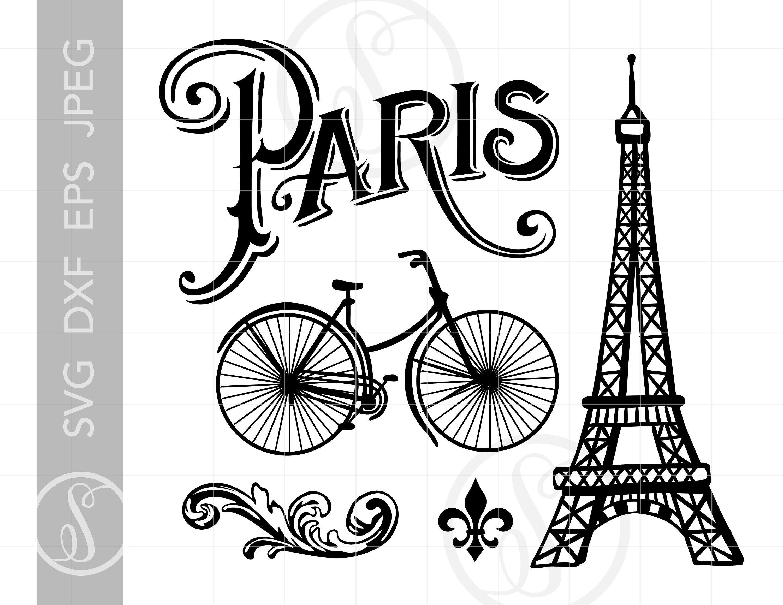 19++ Eiffel tower svg clipart ideas