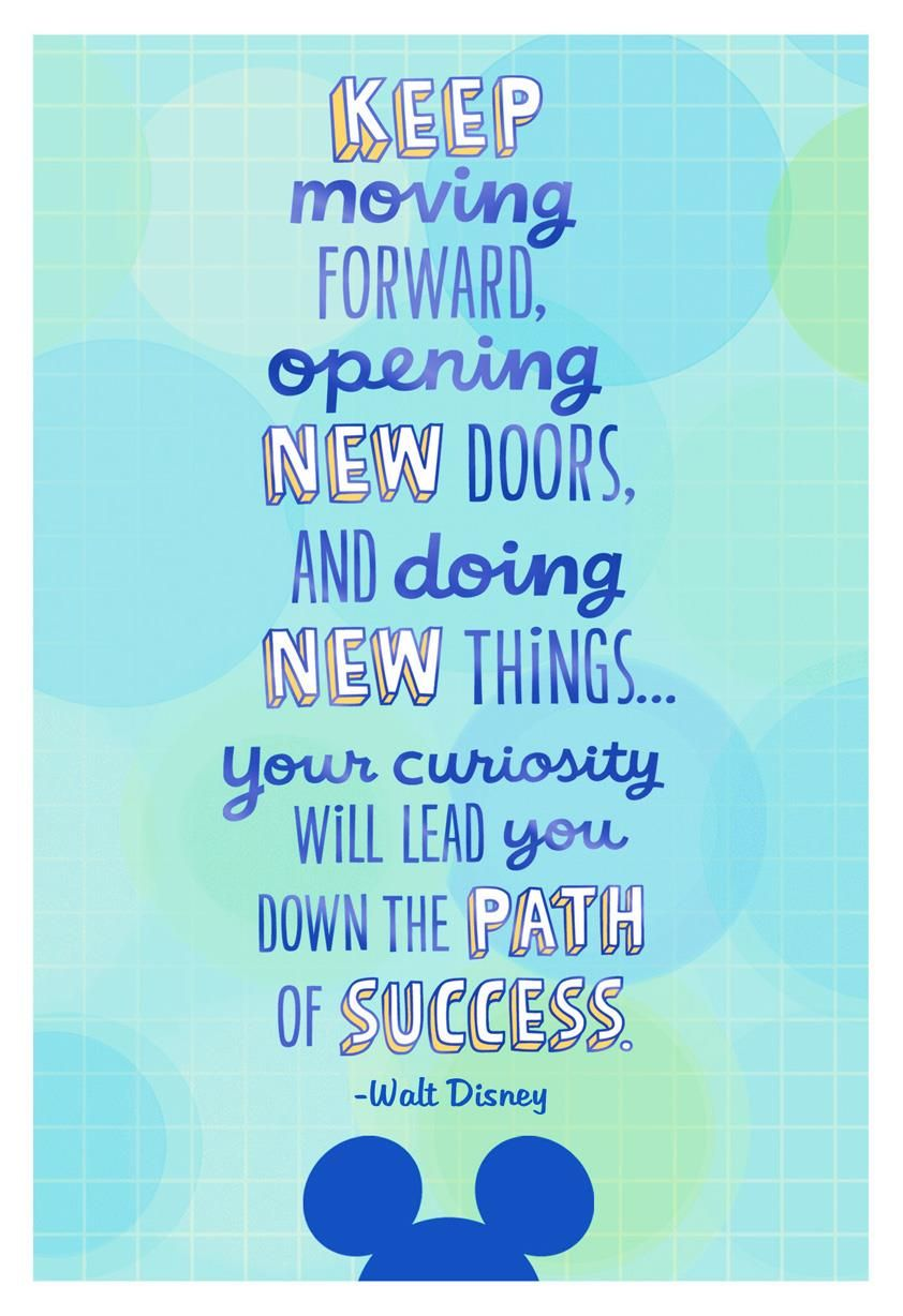 Walt Disney Quote Graduation Card Nuskin Pinterest Walt Disney