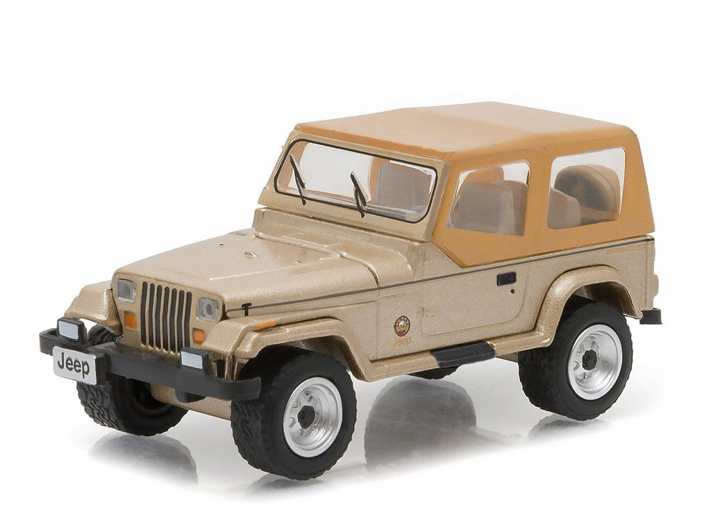 New 1 64 Hobby Exclusive Gold 1993 Jeep Wrangler Sahara Diecast Model Car By Greenlight With Images Jeep Wrangler Sahara Diecast Model Cars Jeep Wrangler