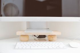 a new bloom - design, food, style, diy: DIY Modern Monitor Stand