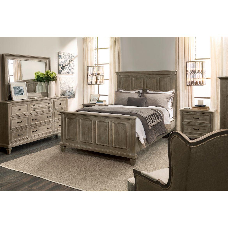 Harrison 6Piece Bedroom Set with Nightstand, Dresser and