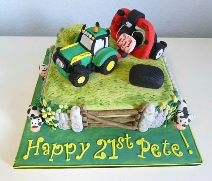 John Deere Tractor Themed 21st Birthday Cake Cake Photosideas