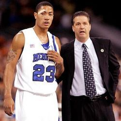 Derrick Rose as a Freshman at Memphis violated the rules by having fraud SAT scores that was #9 out of ten NCAA infamous sanctions.  Check out the whole list