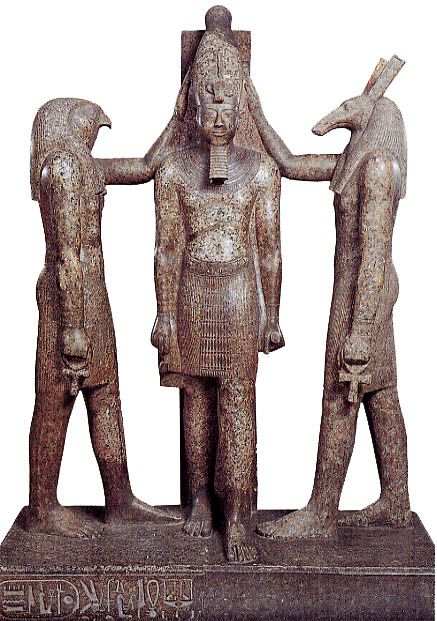 Ramses Iii Crowned By The Gods Horus And Seth Symbol Of The Union