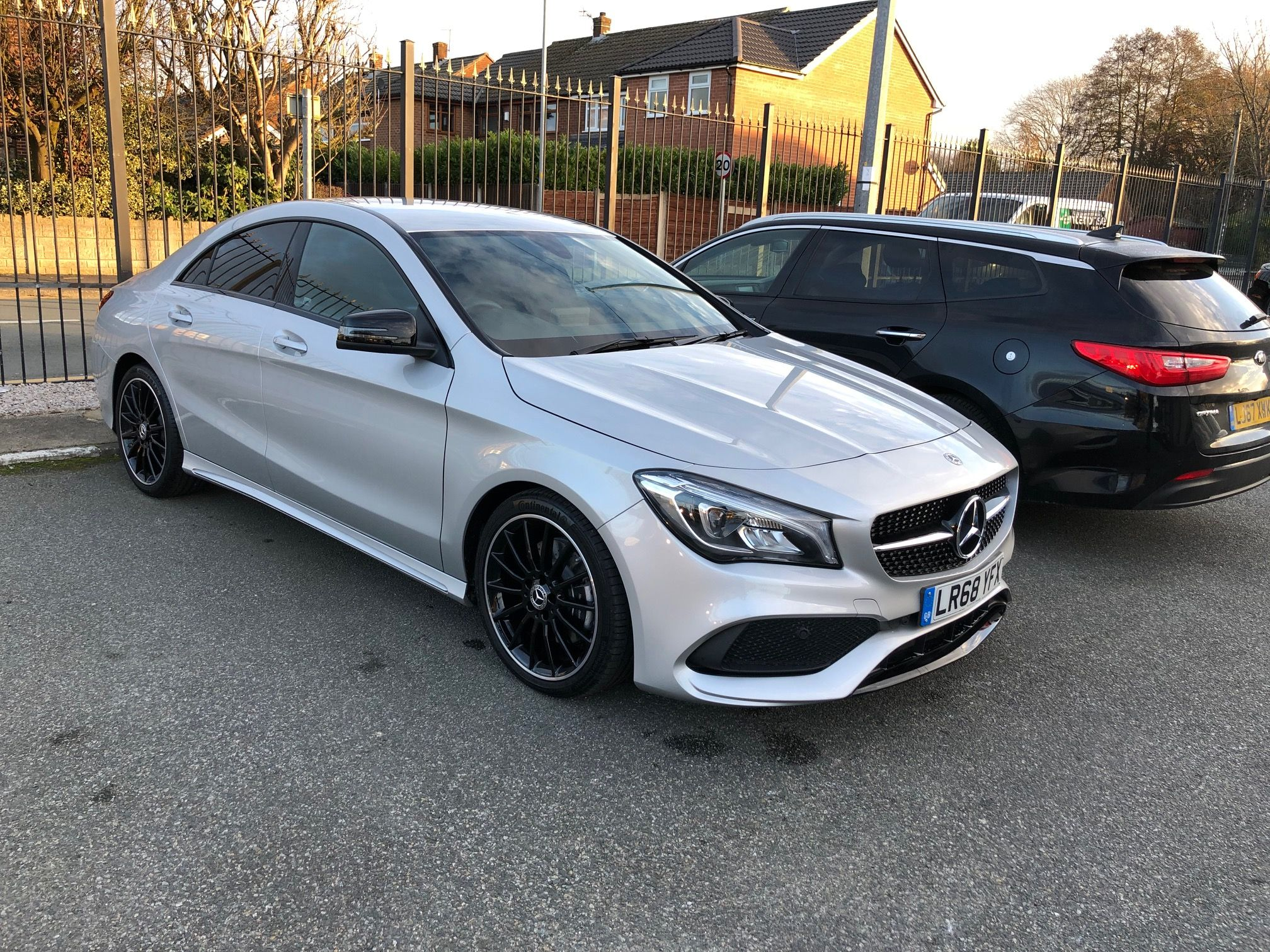 The Mercedes Benz Cla Class Diesel Coupe Cla 220d Amg Line Night