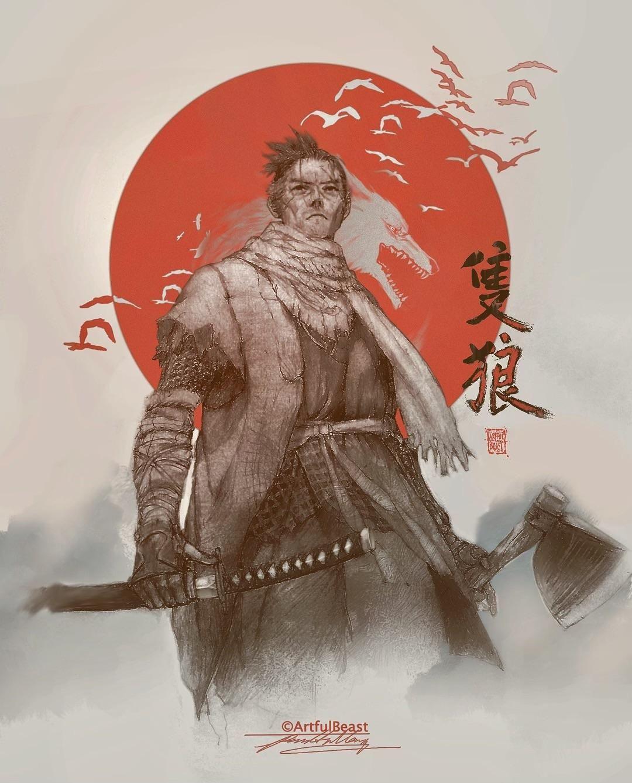 My Sekiro Fan Art Traditional Digital Mixed Medium Sekiro Sekiro Art Samurai Art Character Art