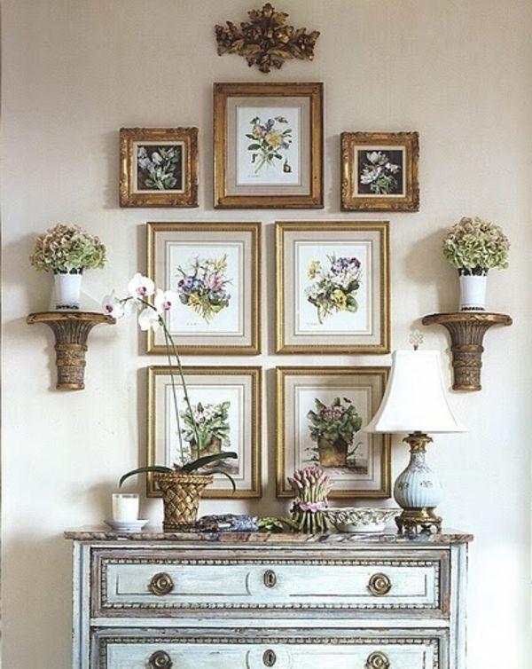 bilder mit goldfarbigen rahmen als wanddekoration benutzen zeit f r kunst 48 wanddekoration. Black Bedroom Furniture Sets. Home Design Ideas