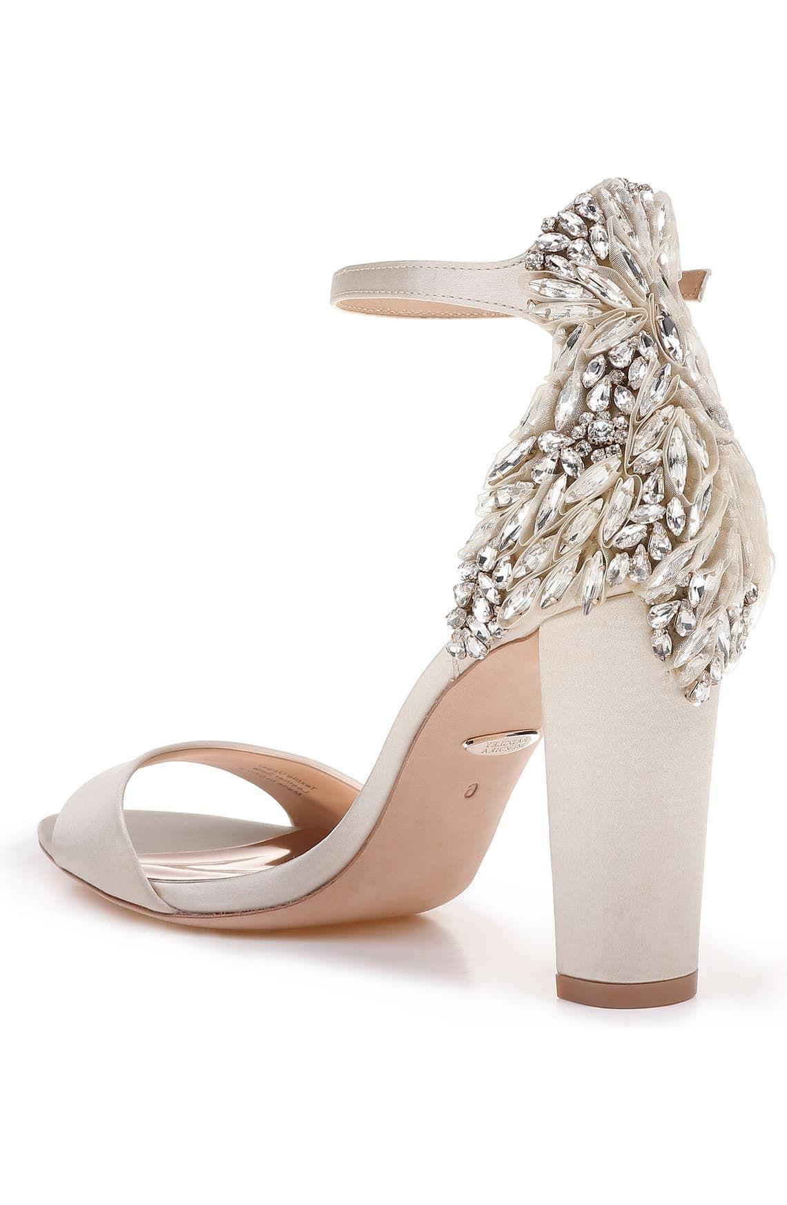 Badgley Mischka Seina Ankle Strap Sandal Women Nordstrom Bridal Shoes Low Heel Bridal Shoes Strap Sandals Women