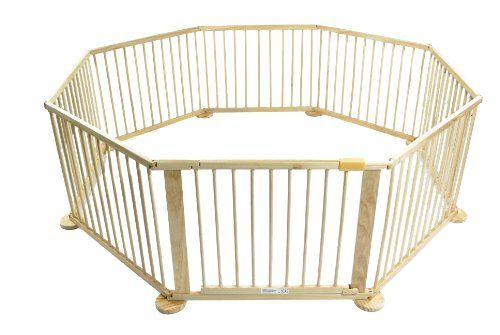 Round Baby Gates Baby Kids Wooden Wood Playpen 8
