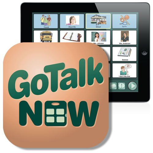 GoTalk NOW iPad App 3 styles of communication pages