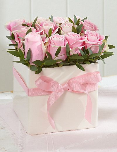 Classic Rose Cube Flowers