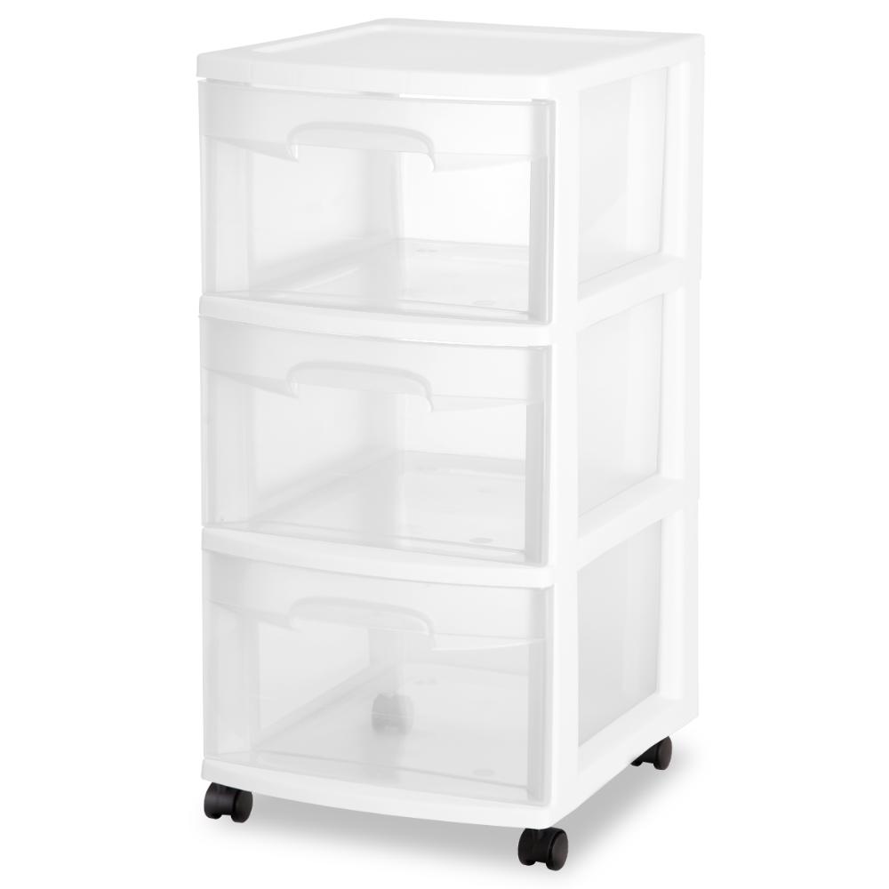 Home Storage Drawers Sterilite 3 Drawer Storage