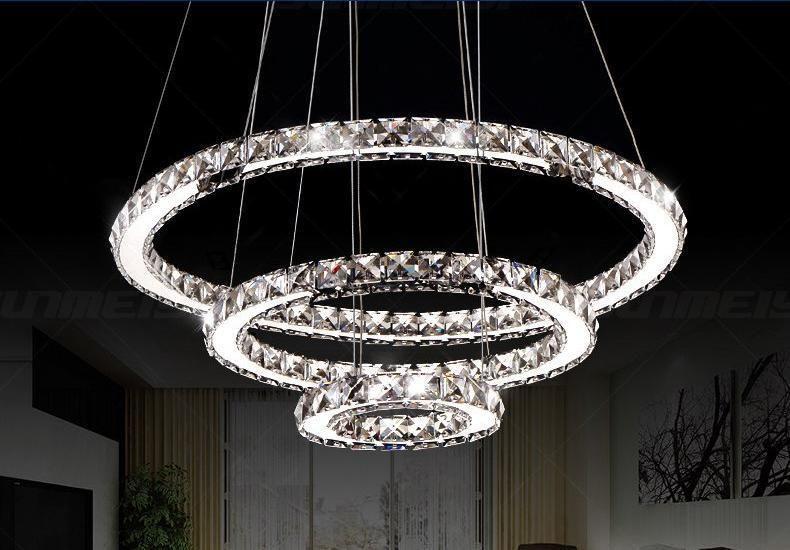 Circular Crystal Led Chandelier Warmly Lightingsuppliers Deco Led Led Lustre Moderne