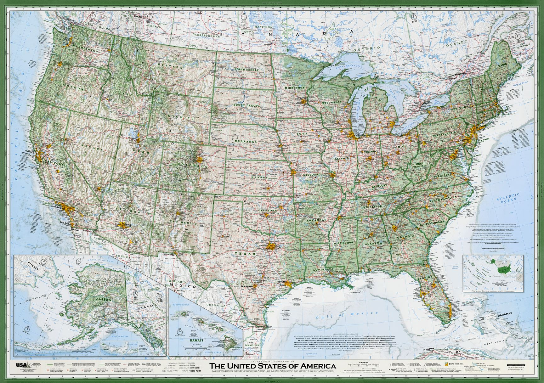 Laminated United States Map.Award Winning U S Map 50x35 3 39 95 For A Rolled Laminated One