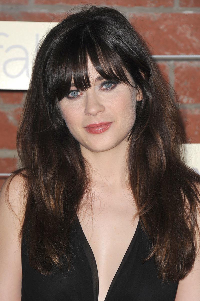 zooey deschanel make up amp hair pinterest peinados