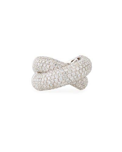 Diana M. Jewels 18k Crisscross Diamond Cuff CZ5bYRj