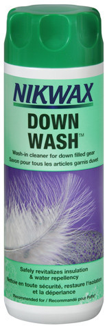 Use Nikwax Down wash for the easy way to care for your down garments. It is safe, high performance cleaner for down filled clothing and gear. It will thoroughly
