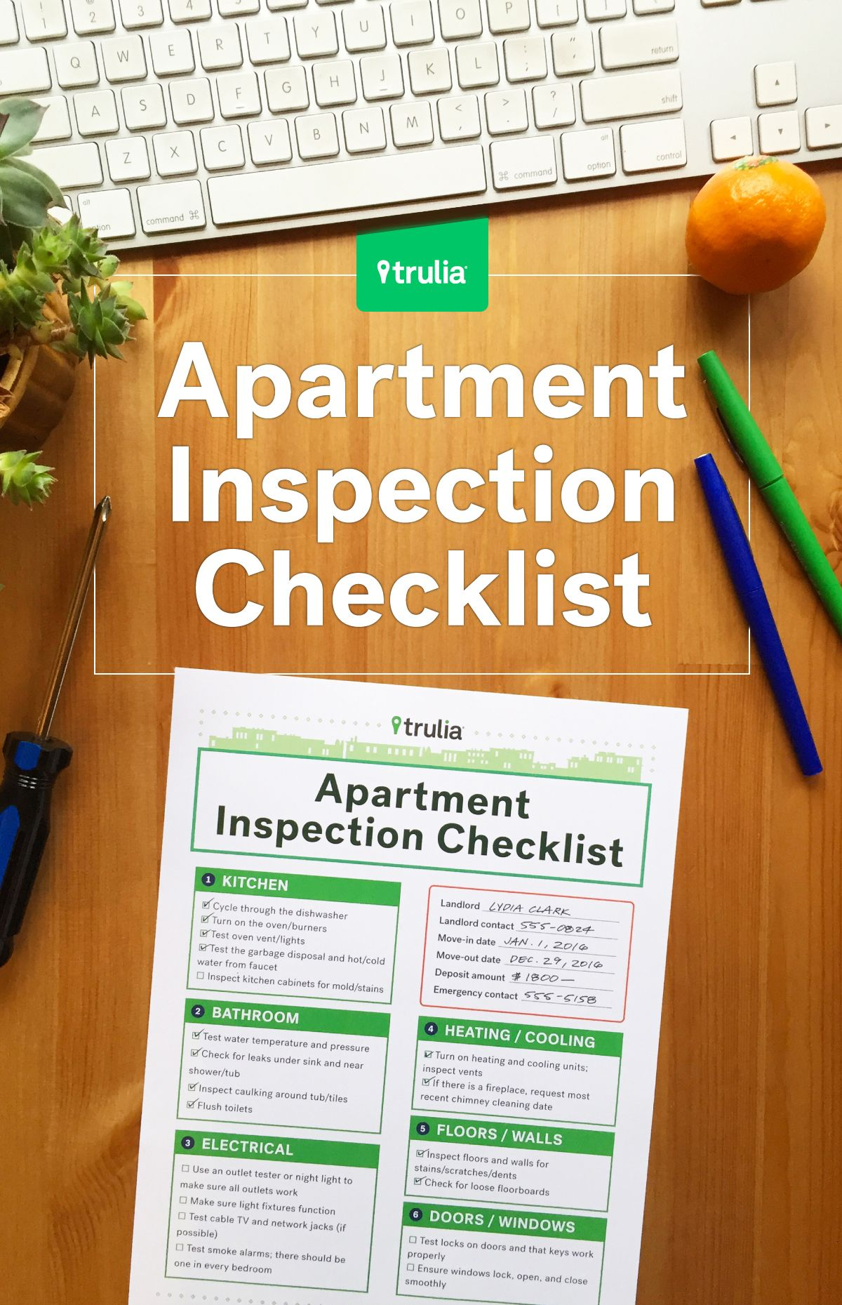 Gentil Truliau0027s Apartment Checklist For Rental Inspections   Real Estate 101    Trulia Blog