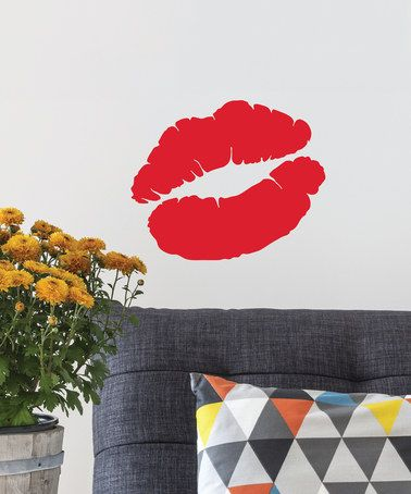 $13.99! red lip print decal #red #lip #lips #wall #decal #kiss #sale