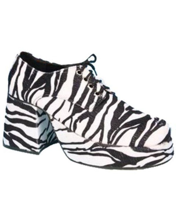 133b5aeea901 Zebra Mens Platform Shoes - Cheap 70s Shoes