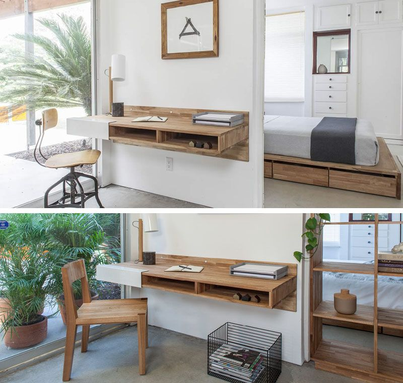 Modern Wall Mounted Desk Designs With Flair And Personality Desks For Small Spaces Wall Desk Small Wall Desk