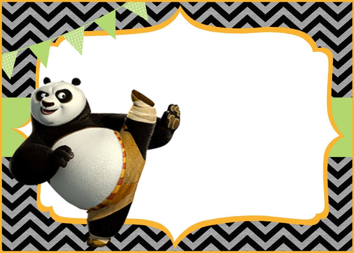 Cute Kung Fu Panda Free Printable Template