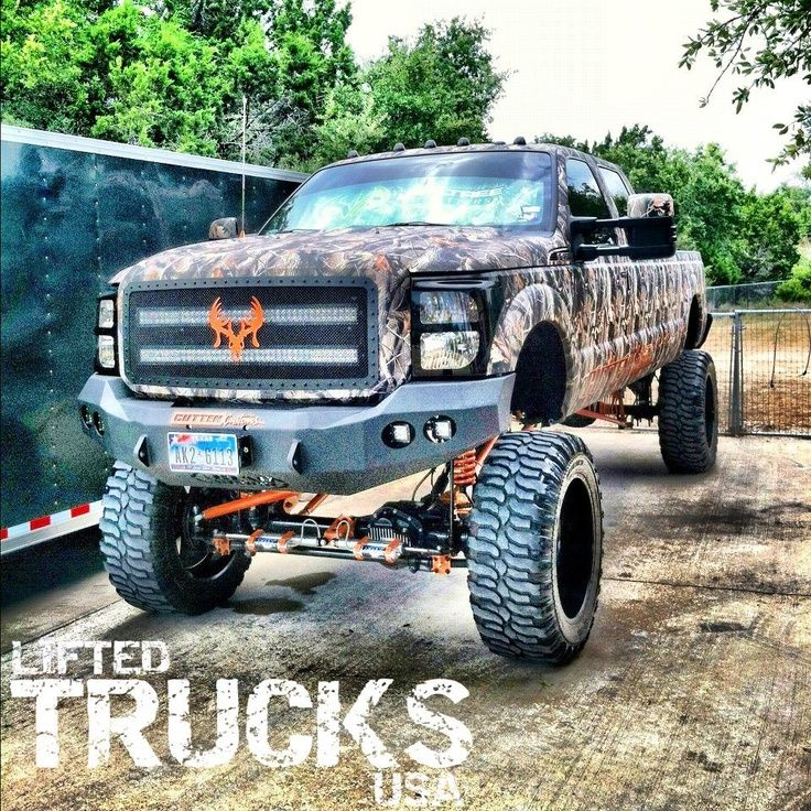 Lifted Ford Super Duty In Camo