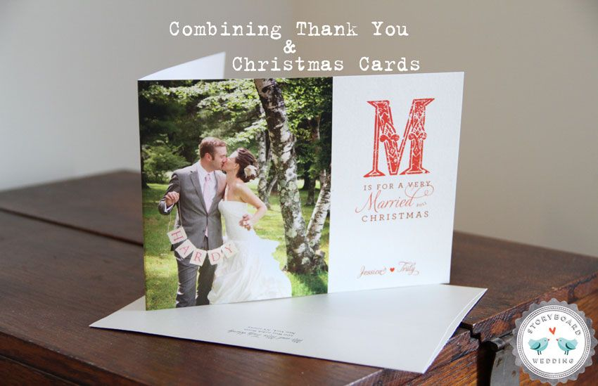 Combining Thank You S Holiday Cards Part 2 Wedding Christmas Card Wedding Thank You Cards Photo Thank You Cards
